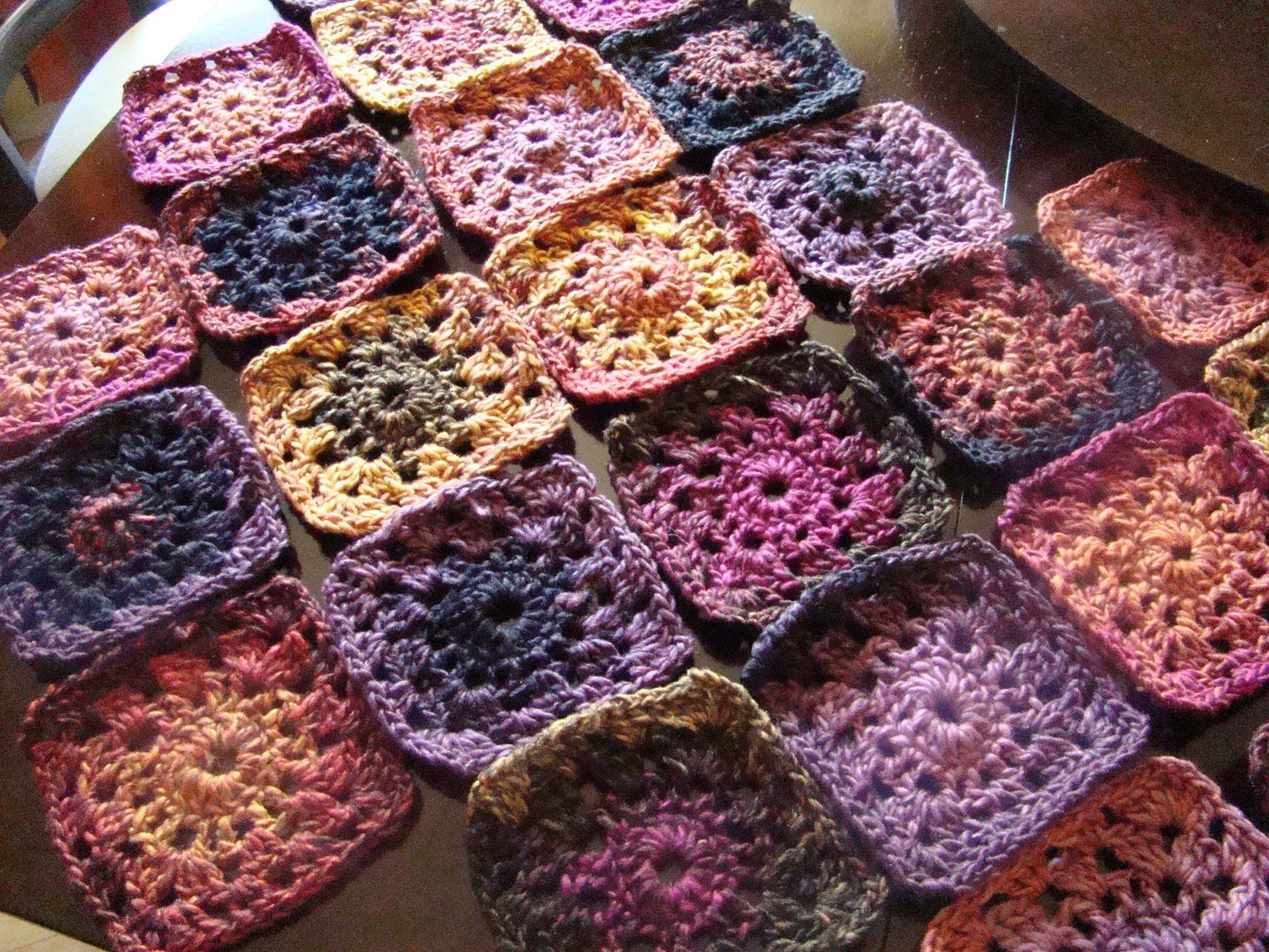 variegated yarn granny square blanket - Google Search | hooks and ...