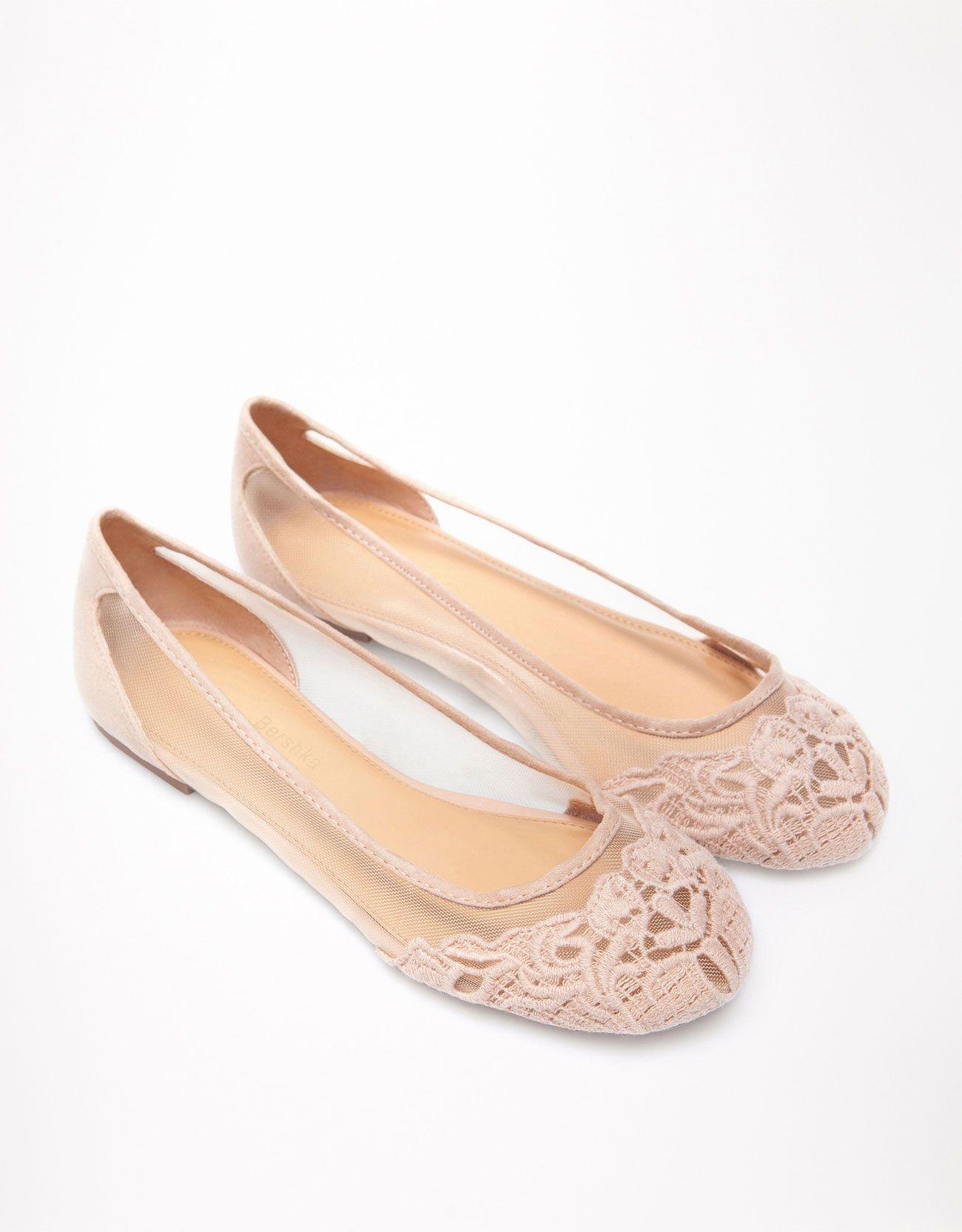 lace ballerina pumps