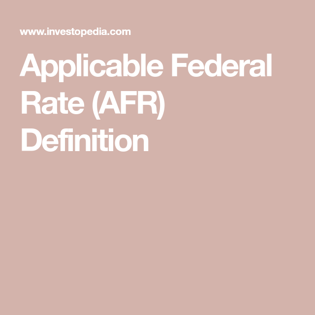 How the Applicable Federal Rate for Private Loans Prevents