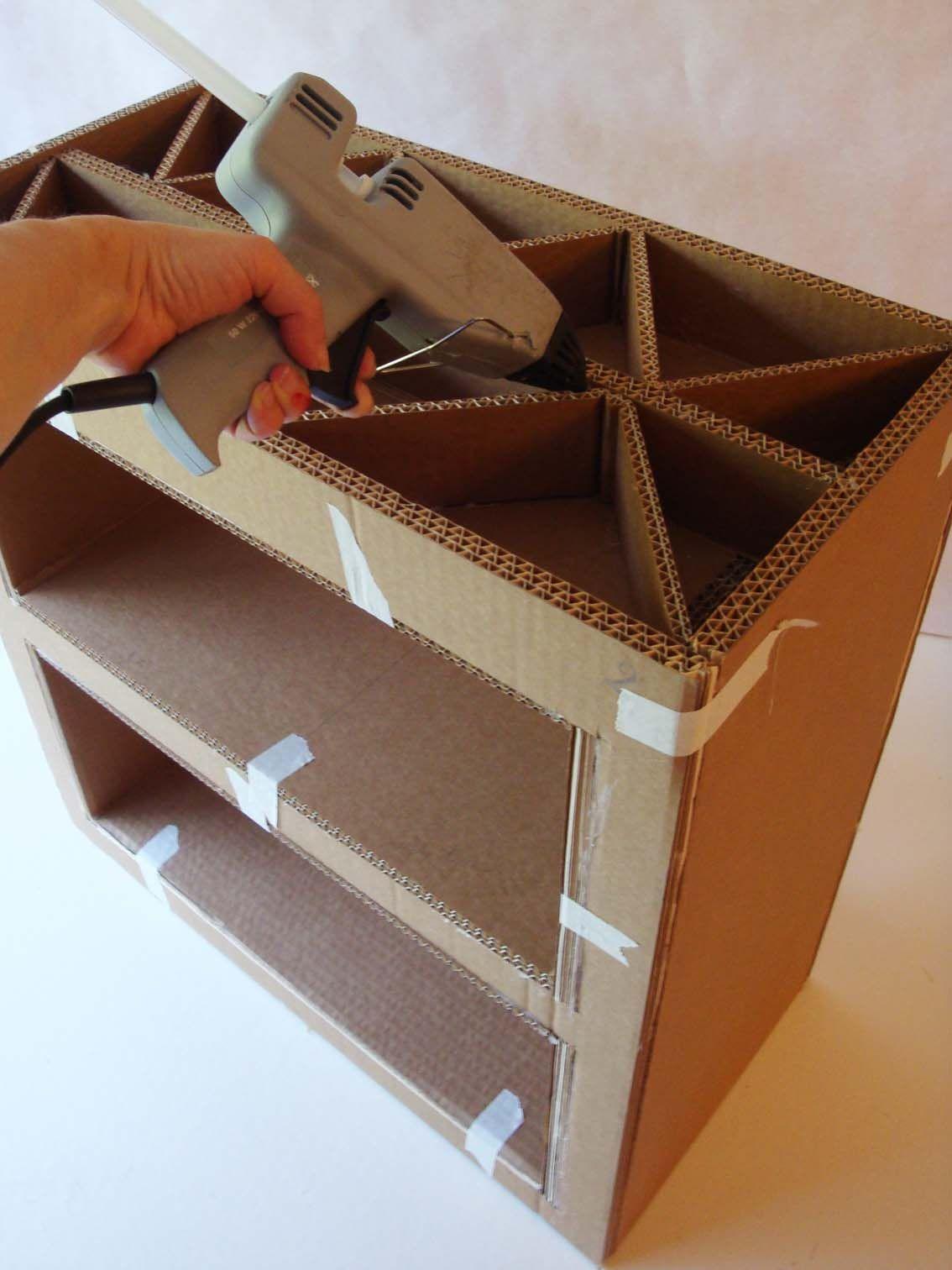 Image De Meuble En Carton etape4 | meuble en carton tuto, artisanat en carton