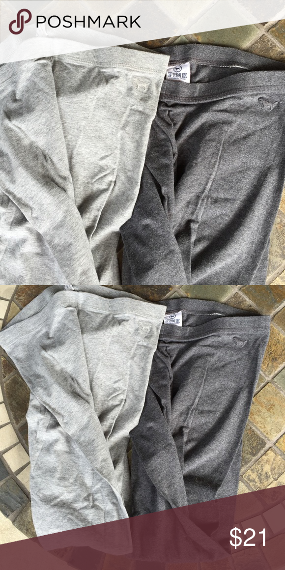 Victoria's Secret pink leggings Buy one or buy both. Light grey and dark gray. Both size S. PINK Victoria's Secret Pants Leggings