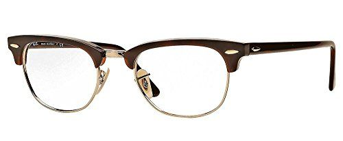 d29722b9083 Ray Ban RX5154 Clubmaster Eyeglasses-2372 Red Havana-49mm Ray-Ban http