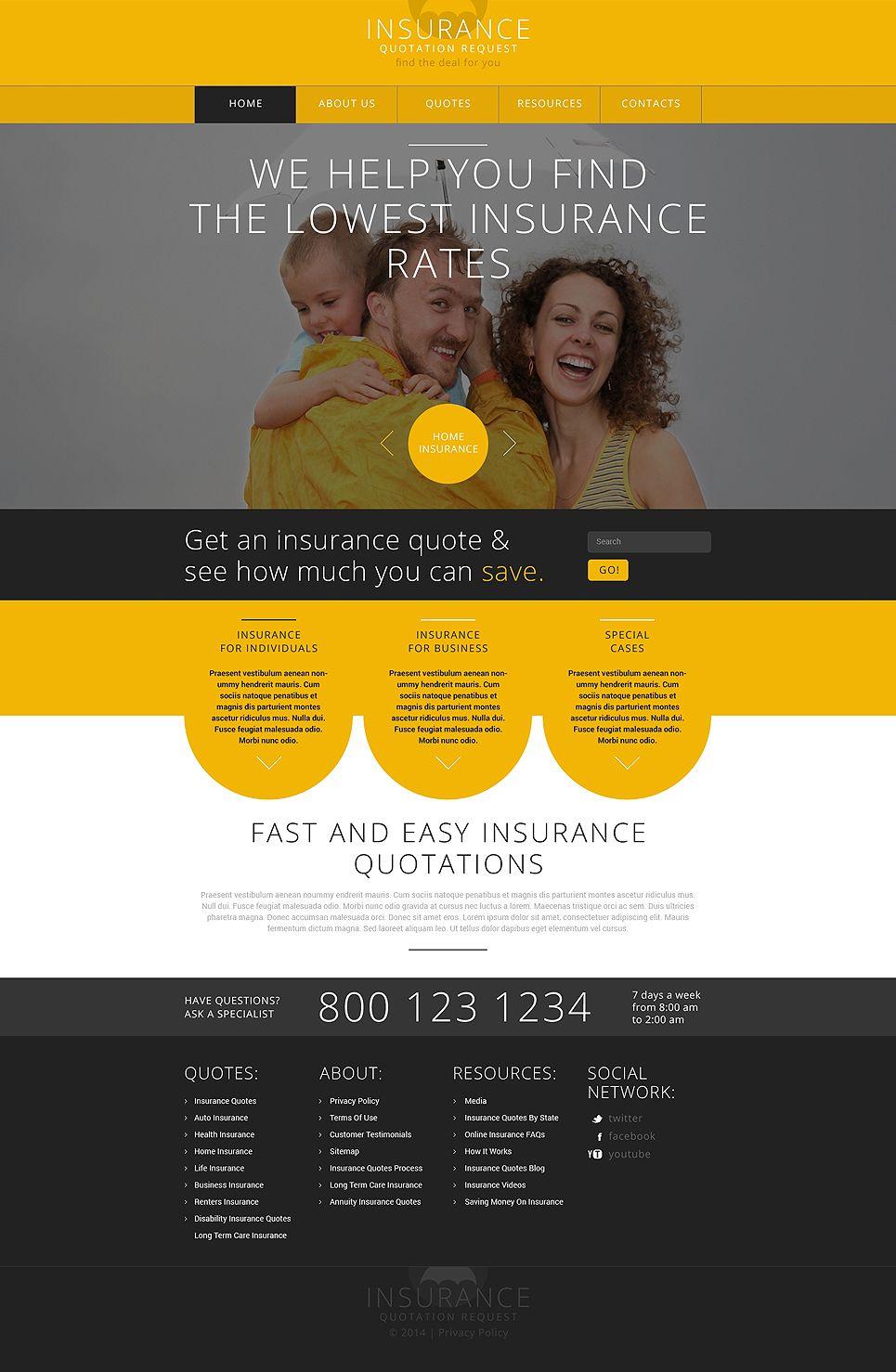 Insurance Responsive Website Template 48415 Responsive Website