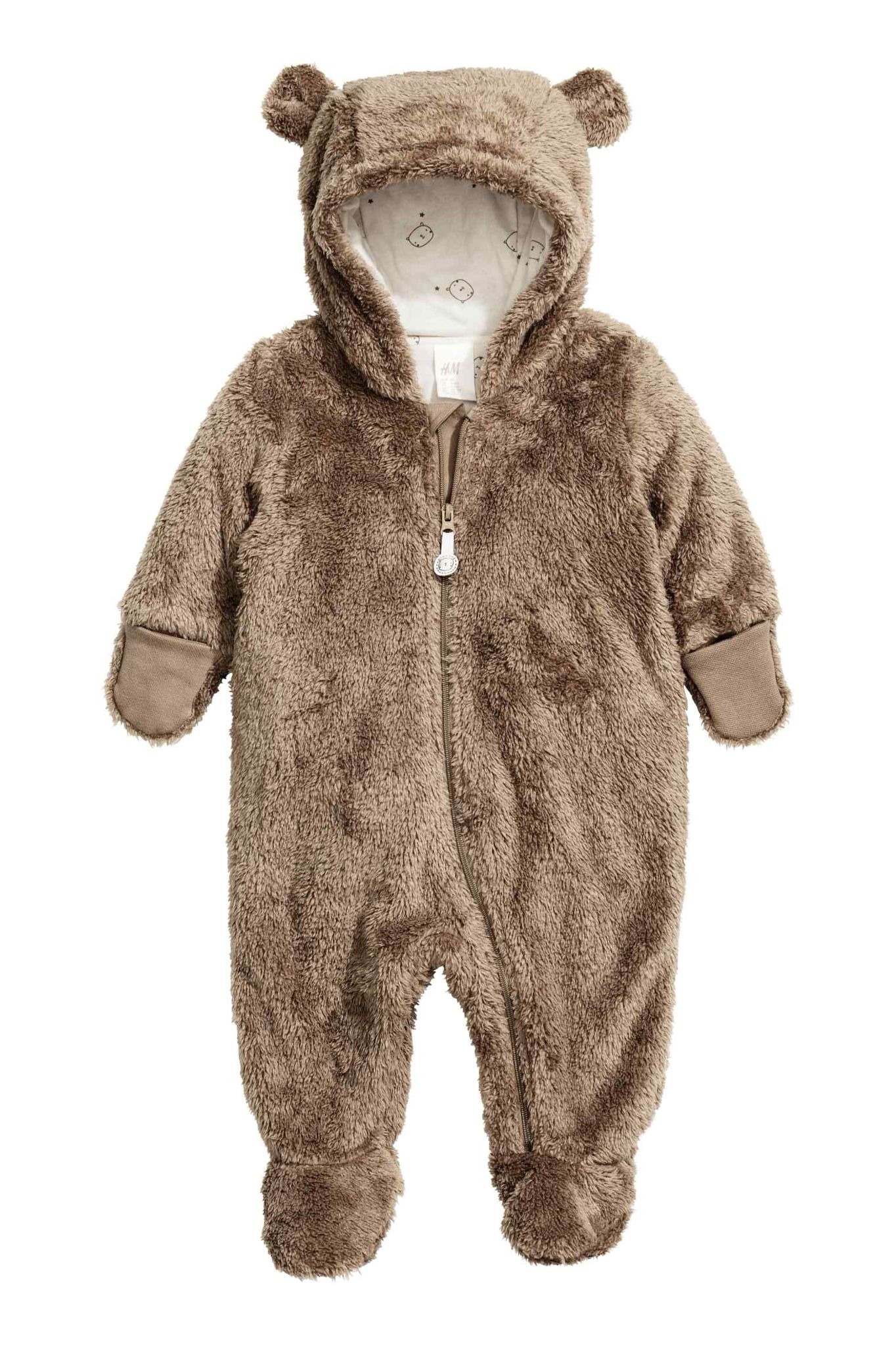 72a5b6b27548 Brown bear all in one pram suit from H M