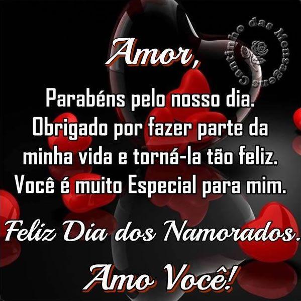 Amor Parabéns Pelo Nosso Dia Obrigado Por Fazer Parte Da Mensagem Dia Dos Namorados Mensagem Dias Dos Namorados Feliz Dia Dos Namorados