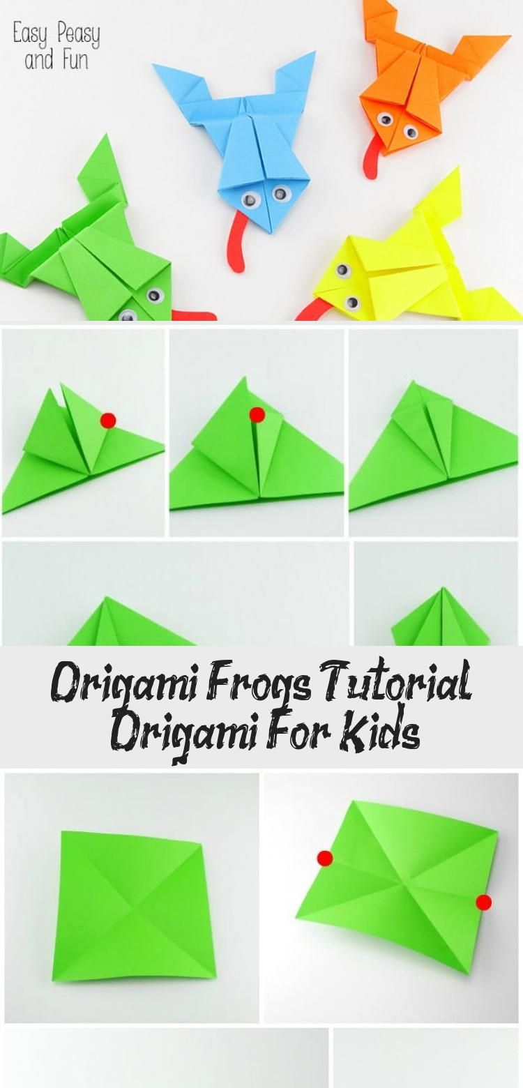 Photo of Origami Frösche Tutorial – Origami für Kinder #origamiOwl #origamiDrawing #origamiWe …