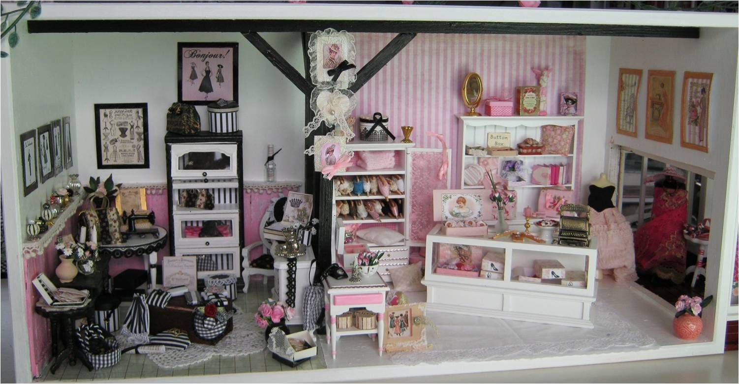 Black and white and pink boutique