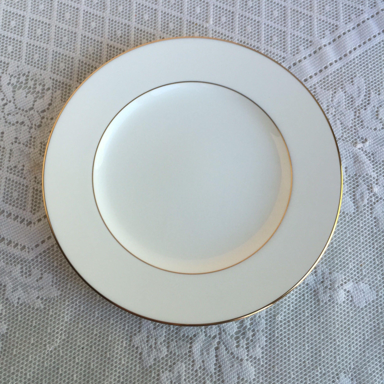 Vintage Noritake Bone China Salad Plate / White China Luncheon Plate ...
