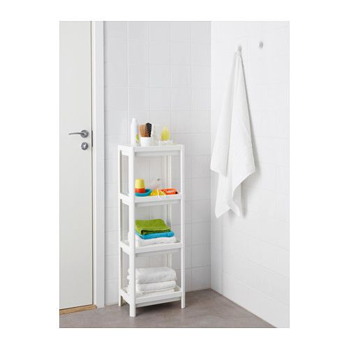 Regalsystem wandschiene ikea  VESKEN Shelf unit, white | Shelves, Small bathroom and Apartments