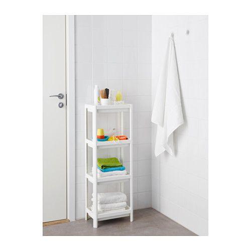 Vesken Shelf Unit White 36x23x100 Cm Ikea Ikea Bathroom Storage Small Closet Organization Cheap Small Bathroom Organization
