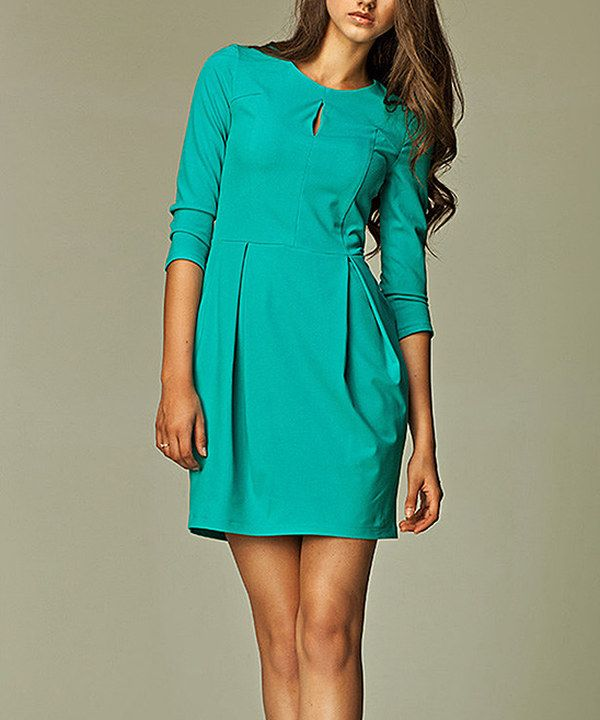 Look at this NIFE Sea Keyhole Dress on #zulily today!