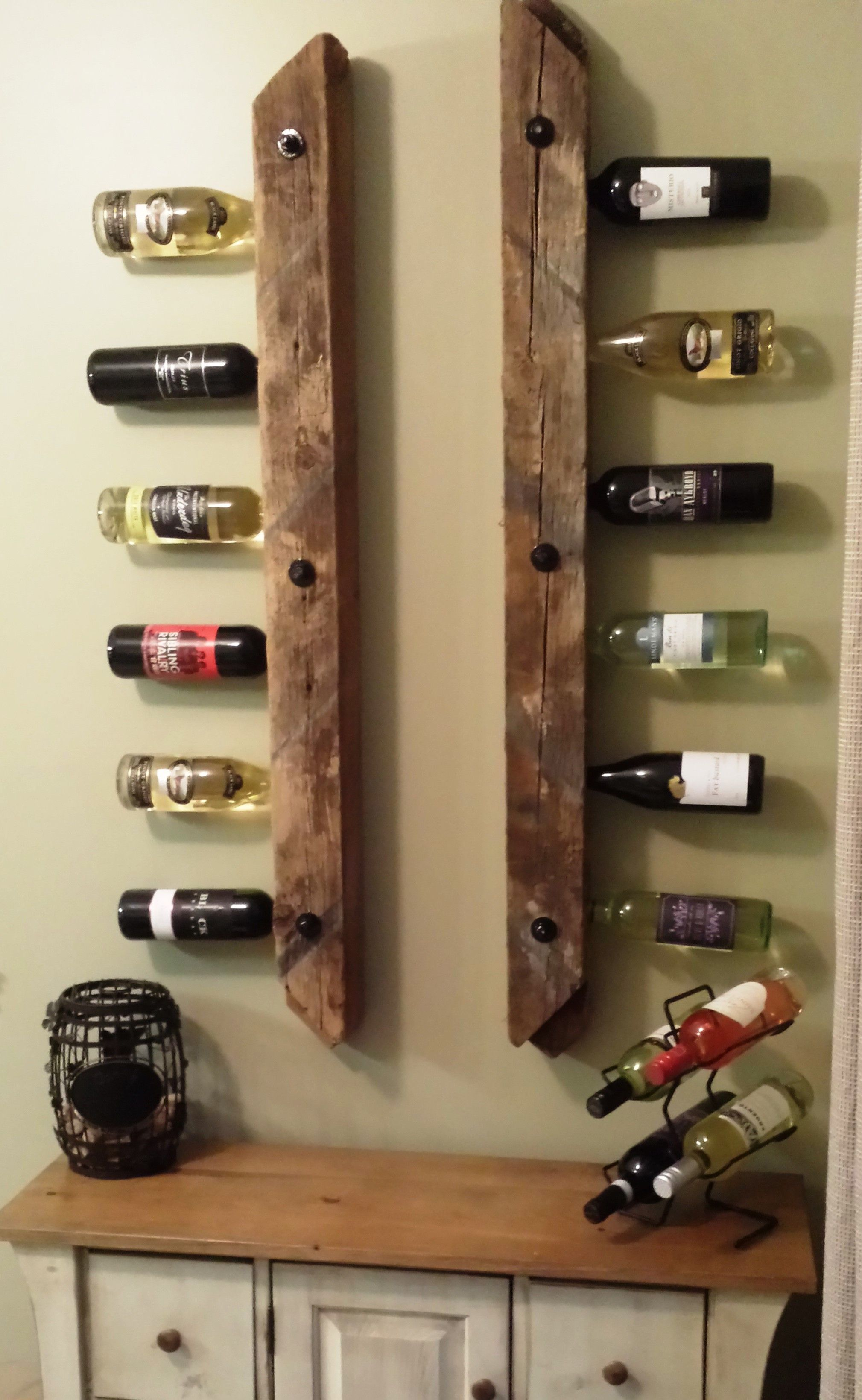 wine rack made with 4x4 inch reclaimed barn wind braces supplied by - Wine Racks For Sale
