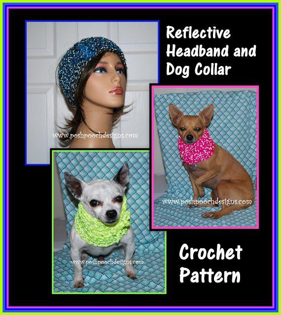 Posh Pooch Designs Dog Clothes Reflective Dog Collar And Human
