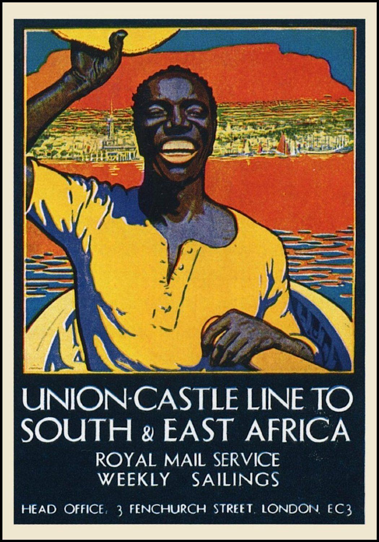 Vintage Travel SOUTH & EAST AFRICA Union Castle Line 250gsm