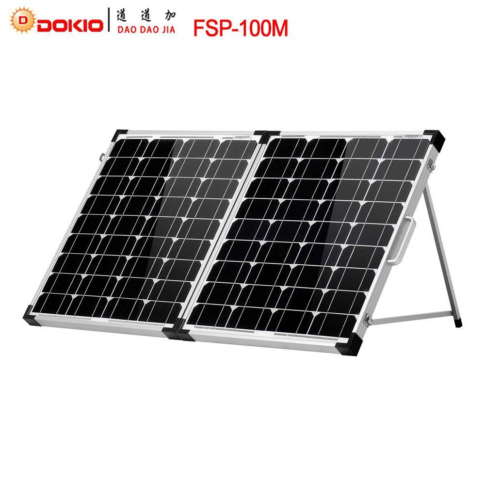 Dokio Brand 100w 2pcs X 50w Foldable Solar Panel China 18v 10a 12v 24v Controller Solar Battery Cell Module System Charger Solnechnye Paneli Solnechnyj Kitaj