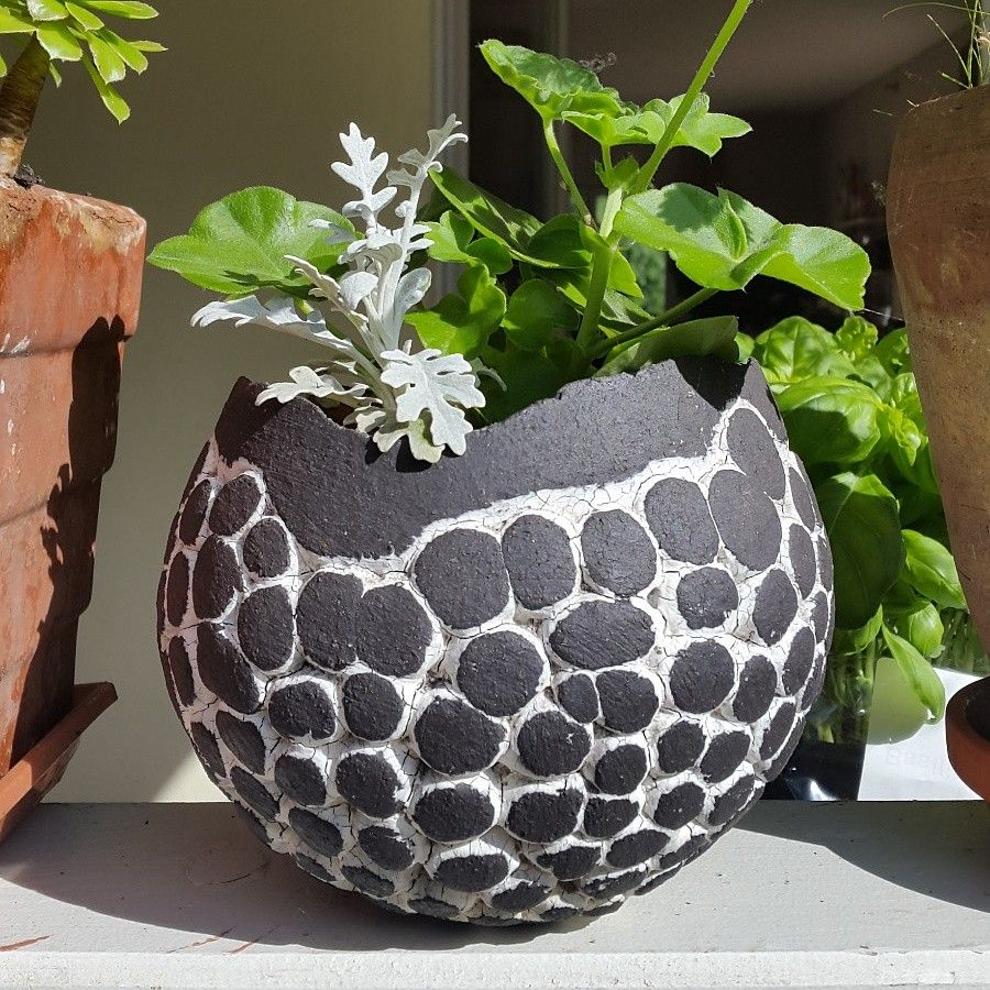 Handarbeiten, Keramik Ideen, Keramik, Pflanzenkübel, Töpfe, Zement, Ton,  Ideen, Keramik Töpfern
