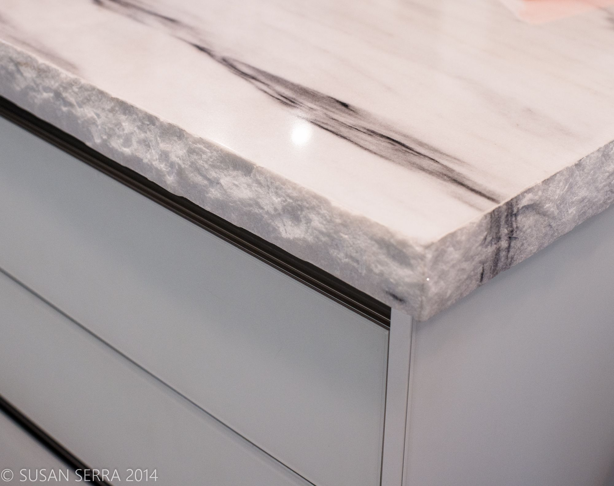 Kitchen Countertop Luxury Thick Rough Edges Of Marble Seen At