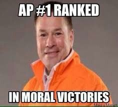 Tennessee Ap 1 Ranked In Moral Victories Lol Victorious Memes University Of Tennessee