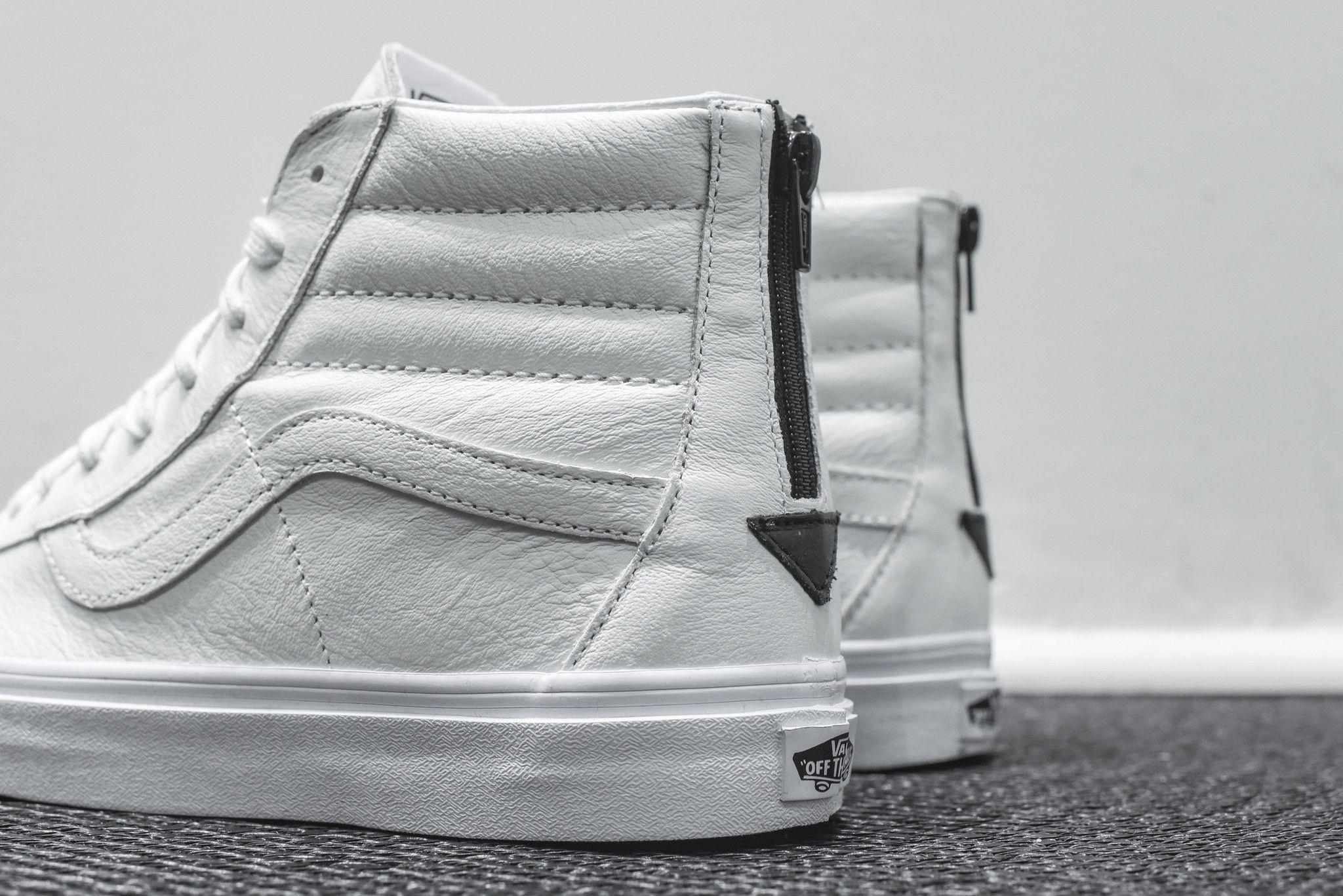 Vans Sk8-Hi Reissue Zip - True White   Black  b0500de4d