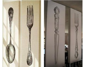 Silver Fork Spoon Wall Decor