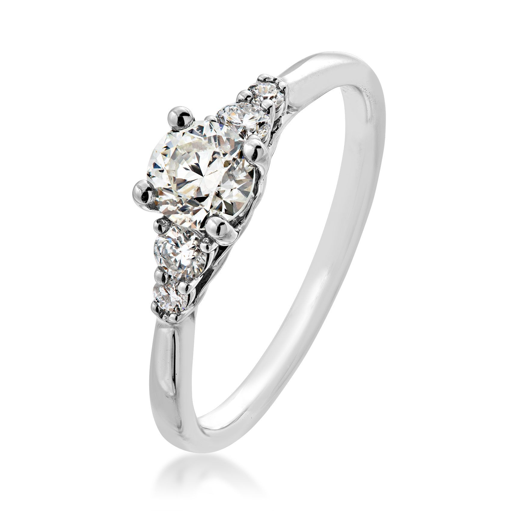 Canadian Rocks 1/2 ct. Round Diamond Engagement Ring with