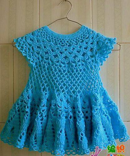 Lindo vestido de crochet | ruanas | Pinterest | Häkeln, Häckeln und ...