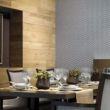 Talk about texture! Wood plank walls & tile walls add warmth and ...