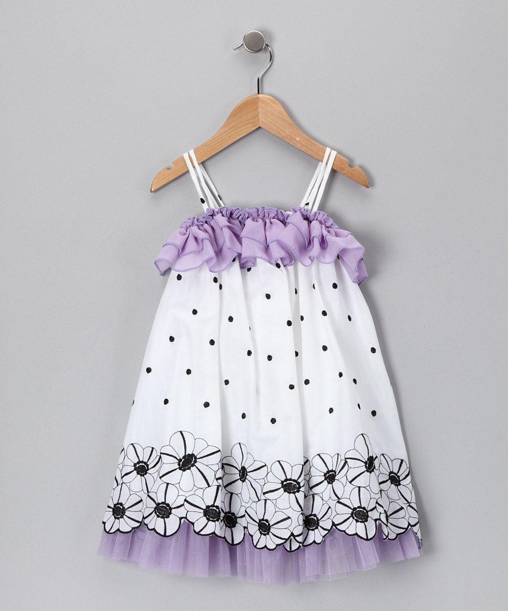 9d0e94df8 Purple Flower   Polka Dot Dress - Toddler   Girls