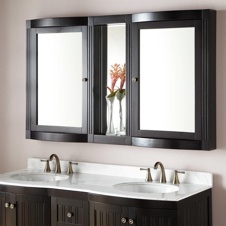 Signaturehardwarecom EspressoZoom Espresso Creamy White Brown - Bathroom mirror 48 inch wide for bathroom decor ideas