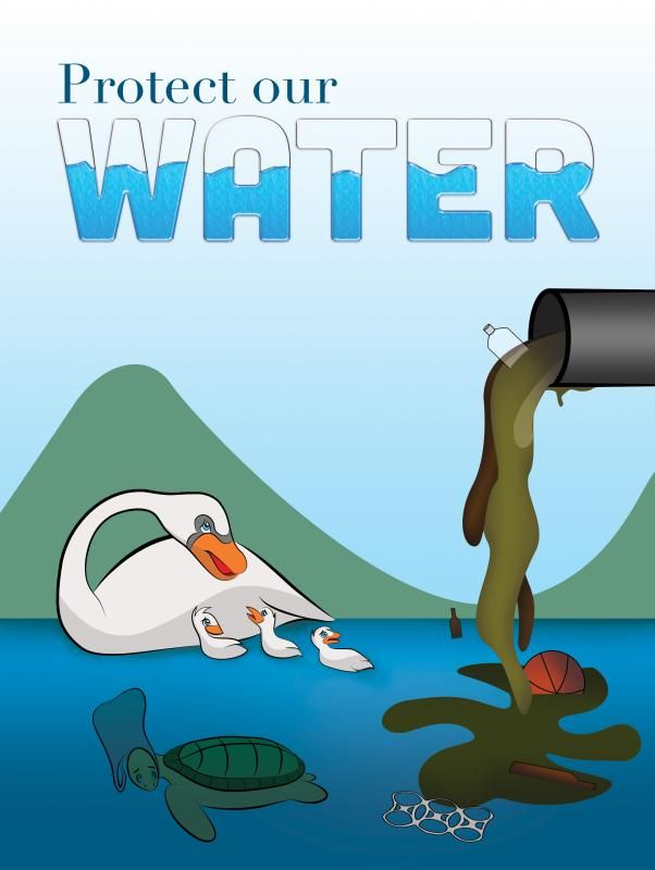 water pollution poster