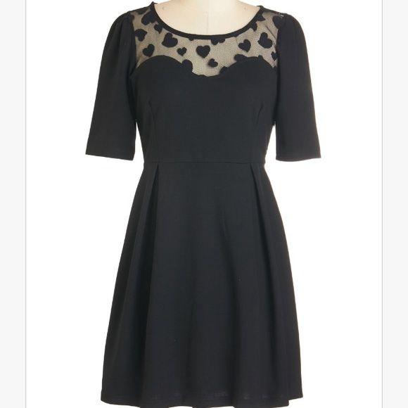 Mesh black dress Mesh black dress w hearts💘🎁💌💗👠 Dresses