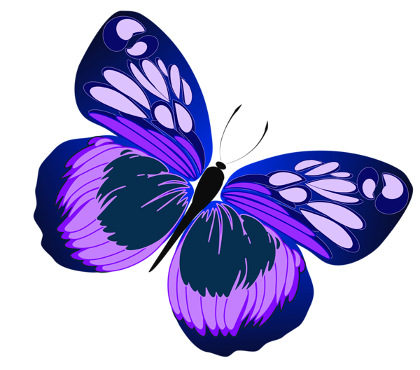 Blue And Purple Butterfly Png Clipart Butterfly Clip Art Butterfly Art Purple Butterfly
