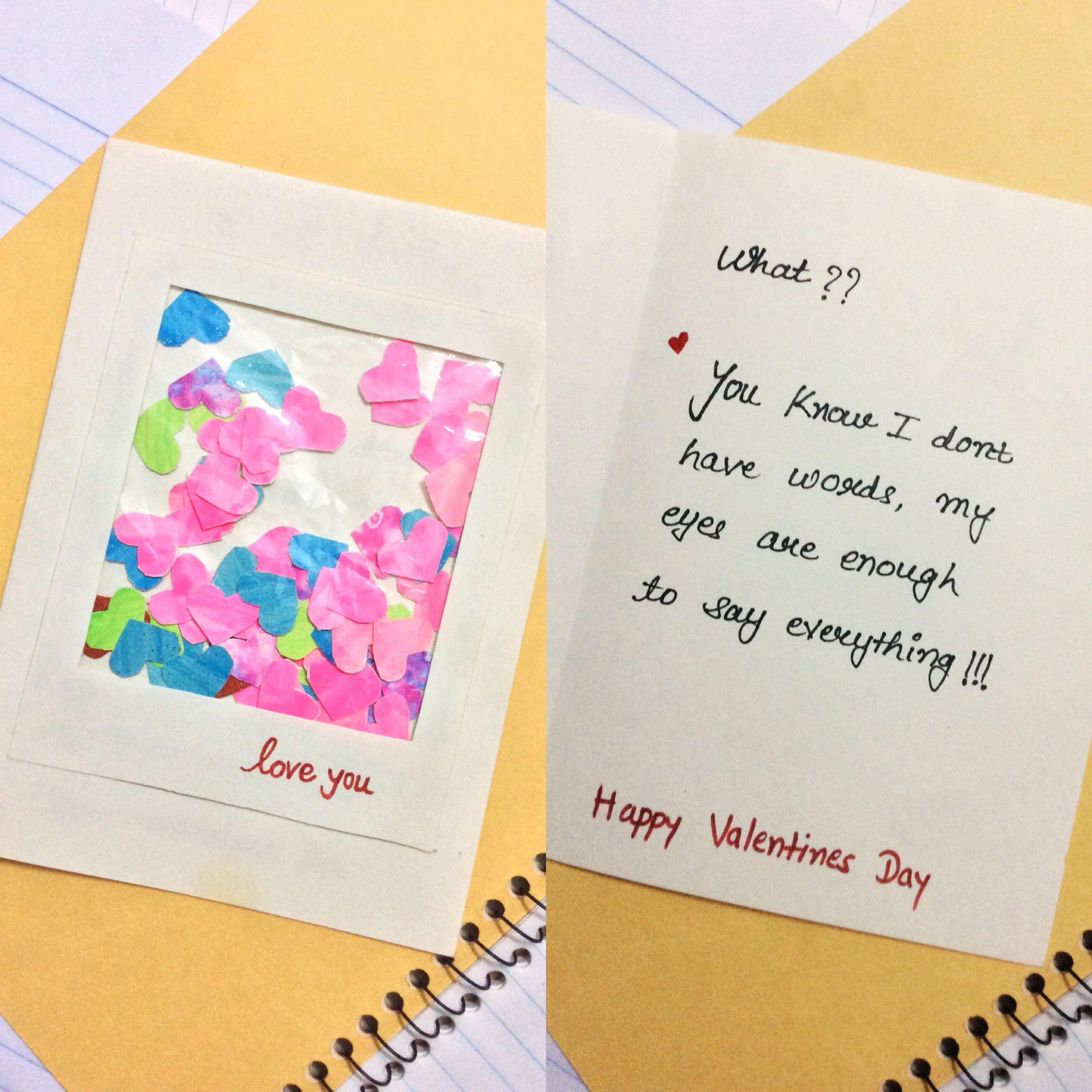Valentines Day Card Valentine Day Weekly Cards Making Diy Crafts For Husband Wife Boyfriend Girlfriend Ha Cards Handmade Paper Crafts Diy Kids Valentines Cards