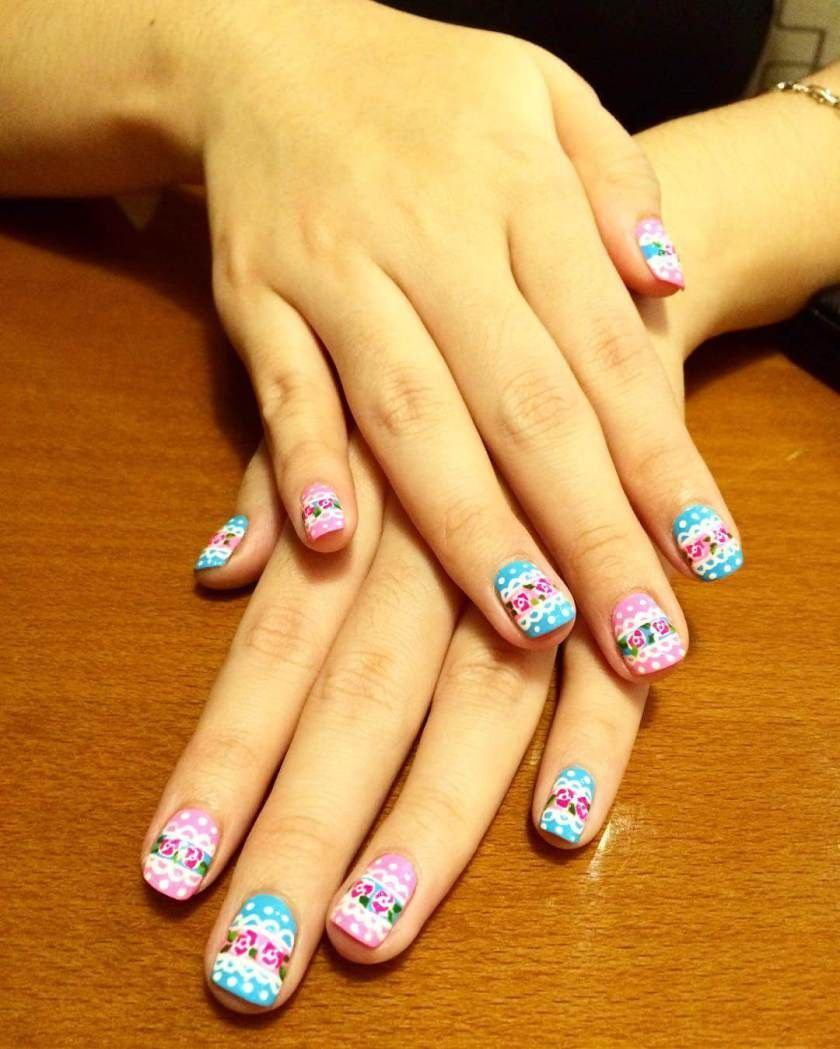 Modern Colorful Nail Designs Images - Coloring Page ...