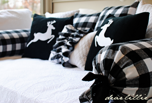 Dear Lillie Blog--love the reindeer pillows