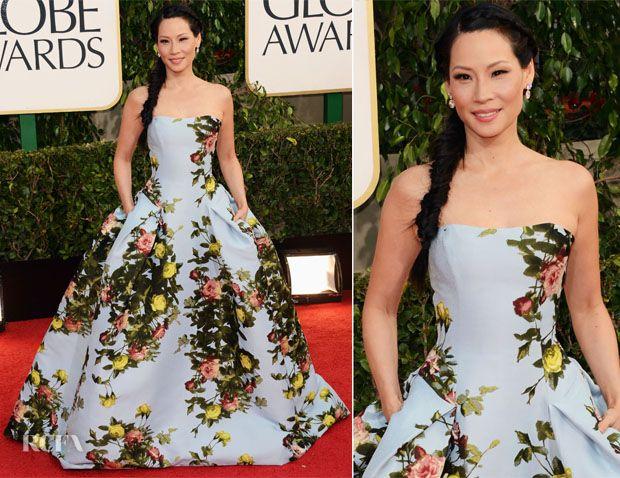 LOVE!!!  Google Image Result for http://redcfa.wpengine.netdna-cdn.com/wp-content/uploads/2013/01/Lucy-Liu-In-Carolina-Herrera-2012-Golden-Globe-Awards.jpg