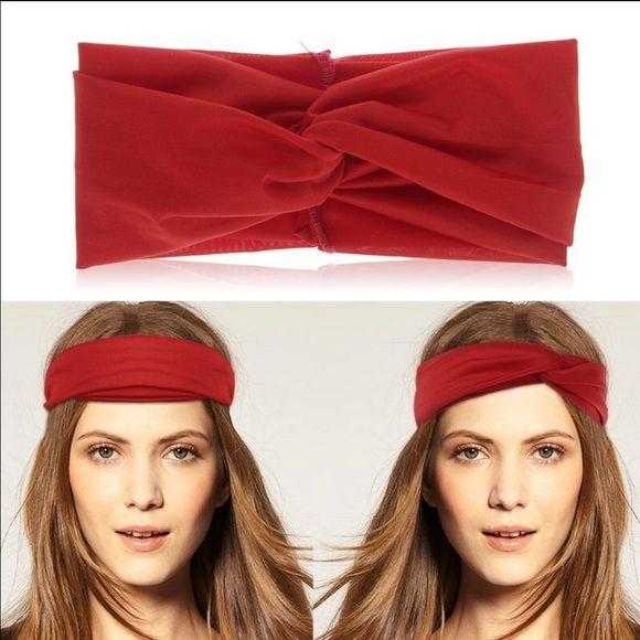 Headband NEW Women girls turban twist knot head wrap headband twisted hair band yellow Accessories Hair Accessories