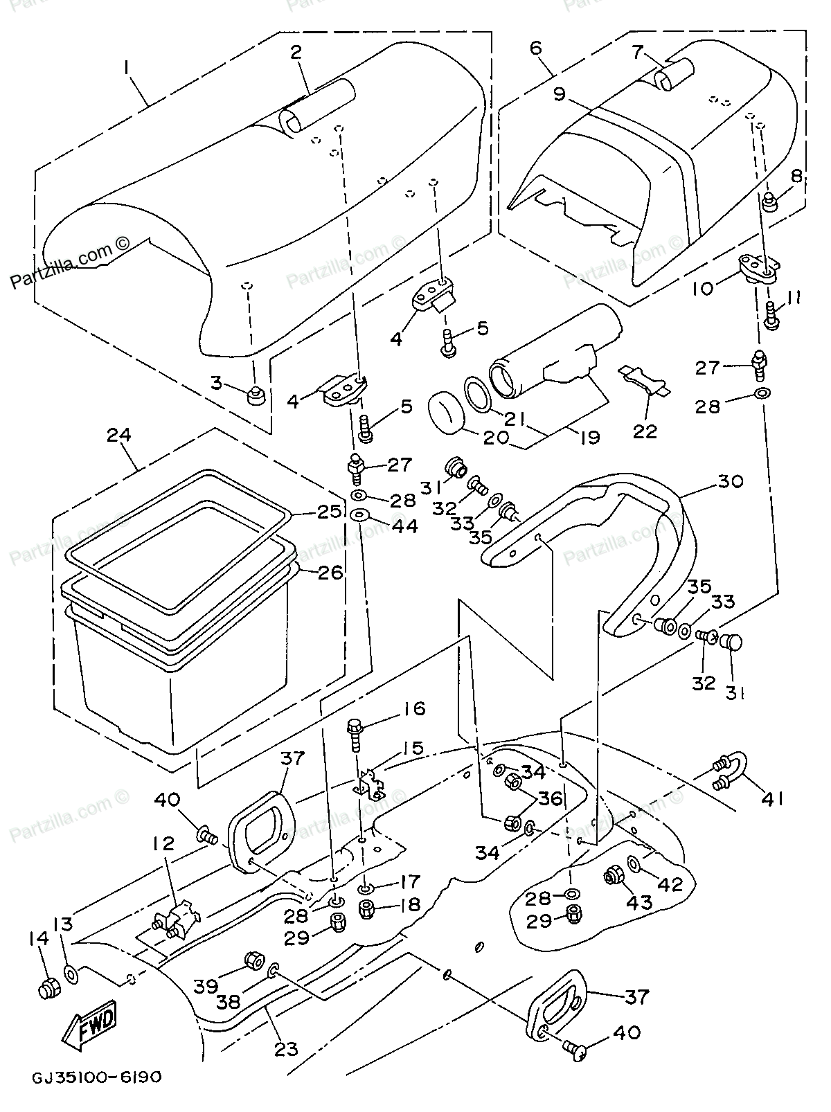 yamaha waverunner engine diagram wiring diagram details 1996 yamaha wave venture 700 yamaha waverunner parts 1996 [ 1200 x 1606 Pixel ]