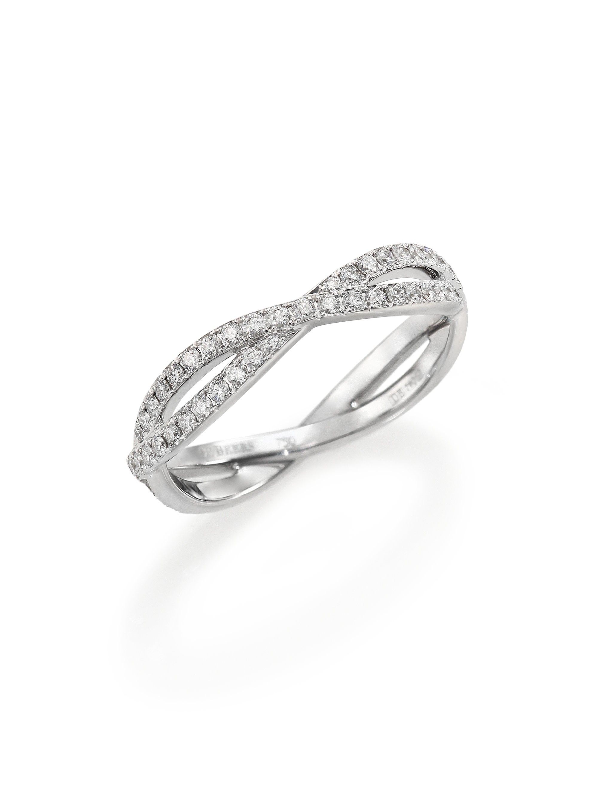 De beers infinity diamond u k white gold full band ring
