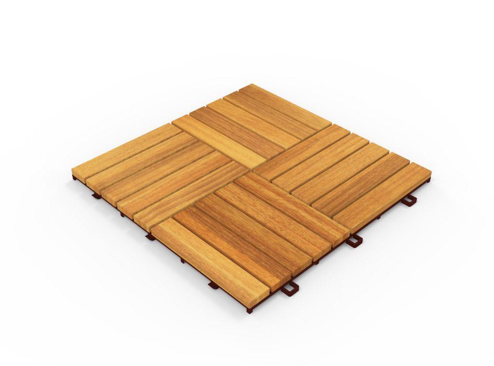 Acacia Hardwood Modular Camp 5 Deck Tiles 10 Pack 100 Tiles 100