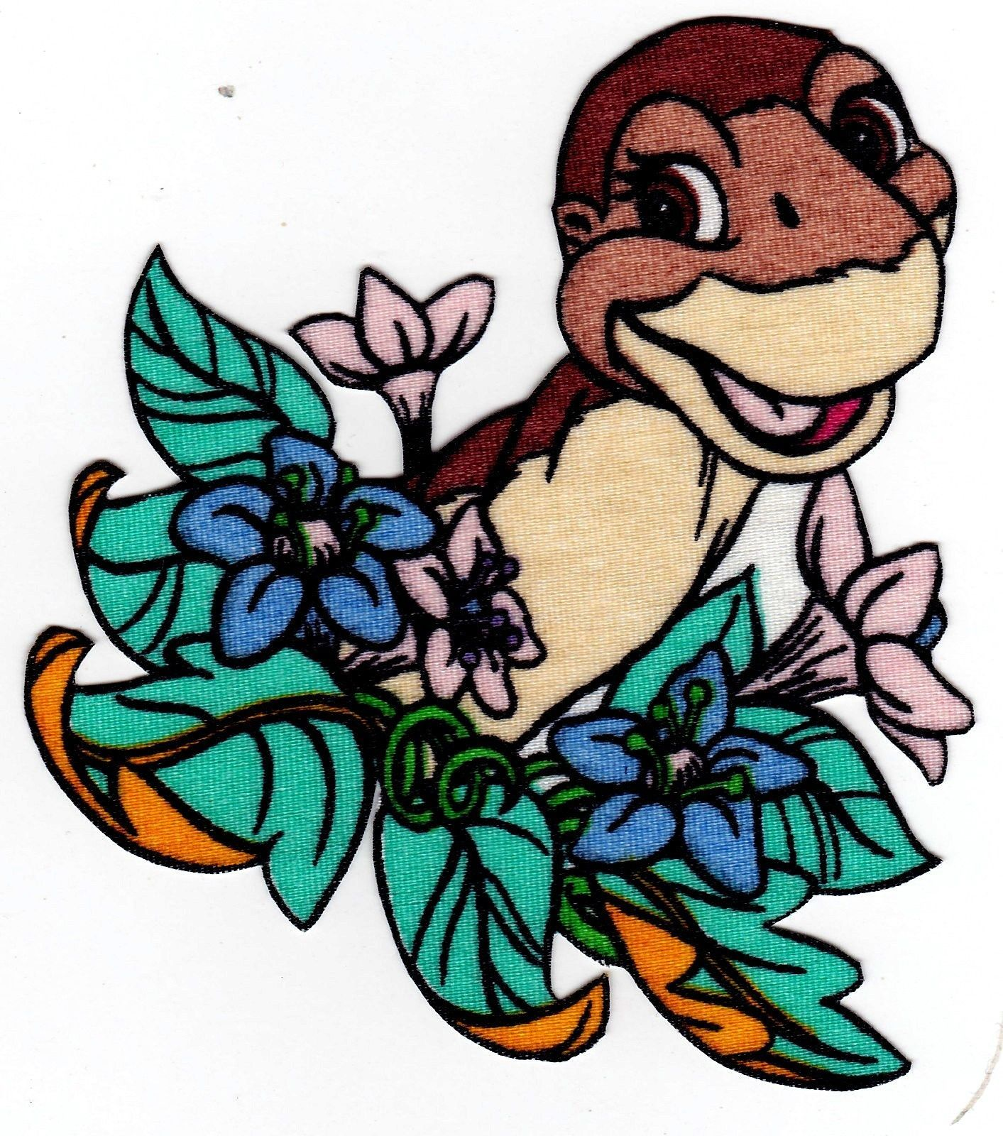 """4/"""" Land before time dinosaur littlefoot fabric applique iron on character"""