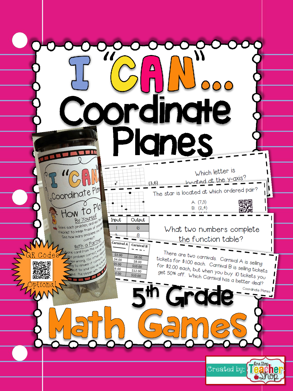 5th Grade Graphing Coordinate Planes Game