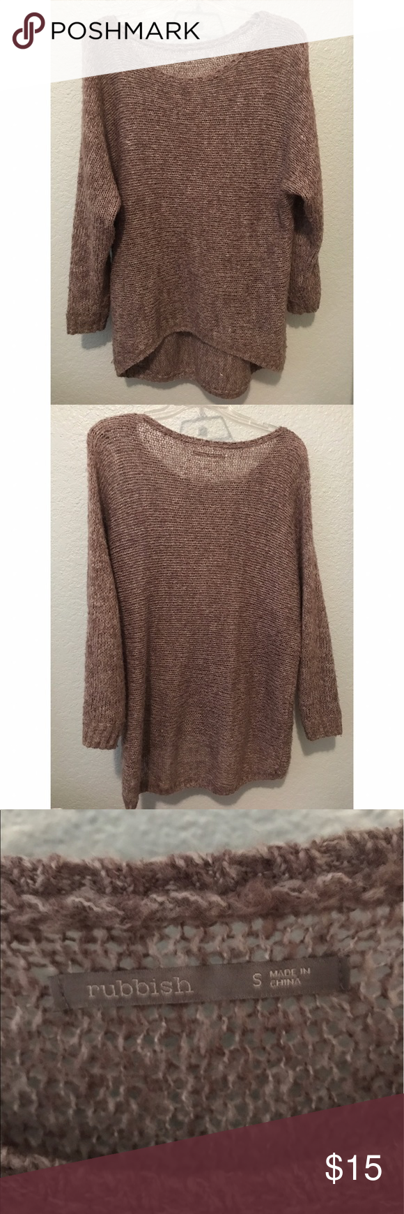 Oversized Knit Sweater Super cute oversized knit sweater! Great ...