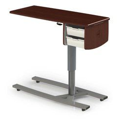 46 W Overbed Table With Two Storage Drawers