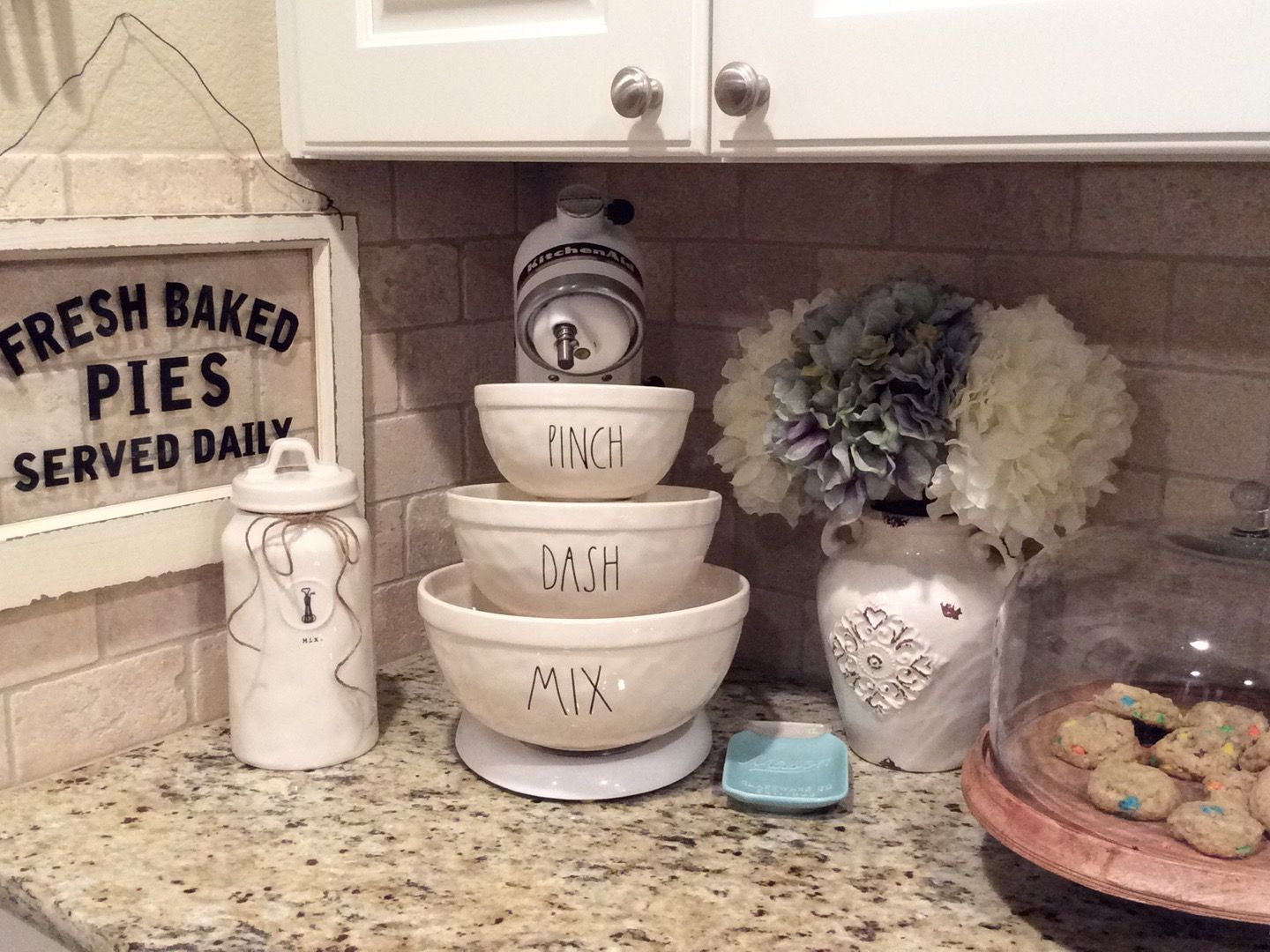 my rae dunn mixing bowl display kitchen decor home decor home