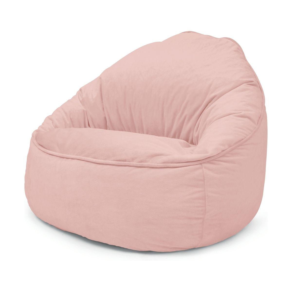 Kids Chair Bean Bag Pink In 2020 Pink Bean Bag Girls