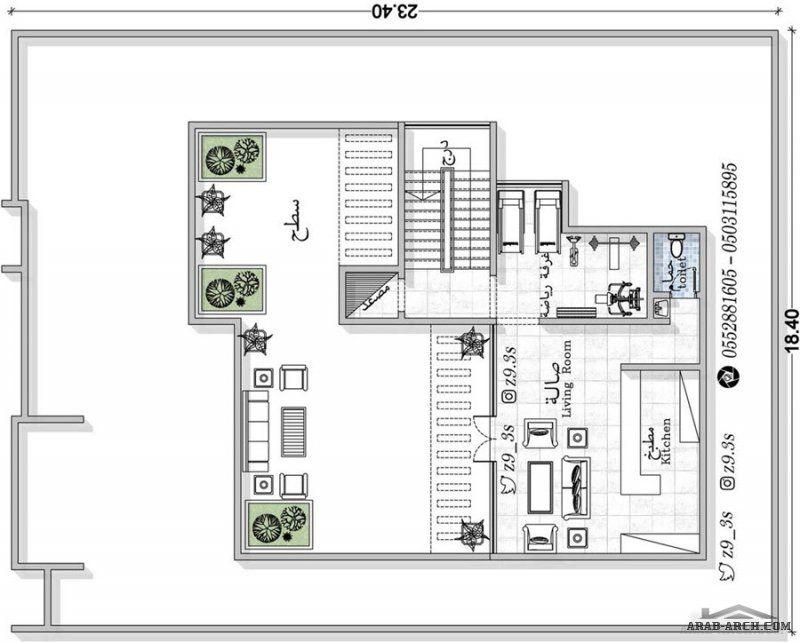 تصميم فيلا من مبادرة حساب تصميم مهندس يحيي زنقوطي Square House Plans Family House Plans House Plans