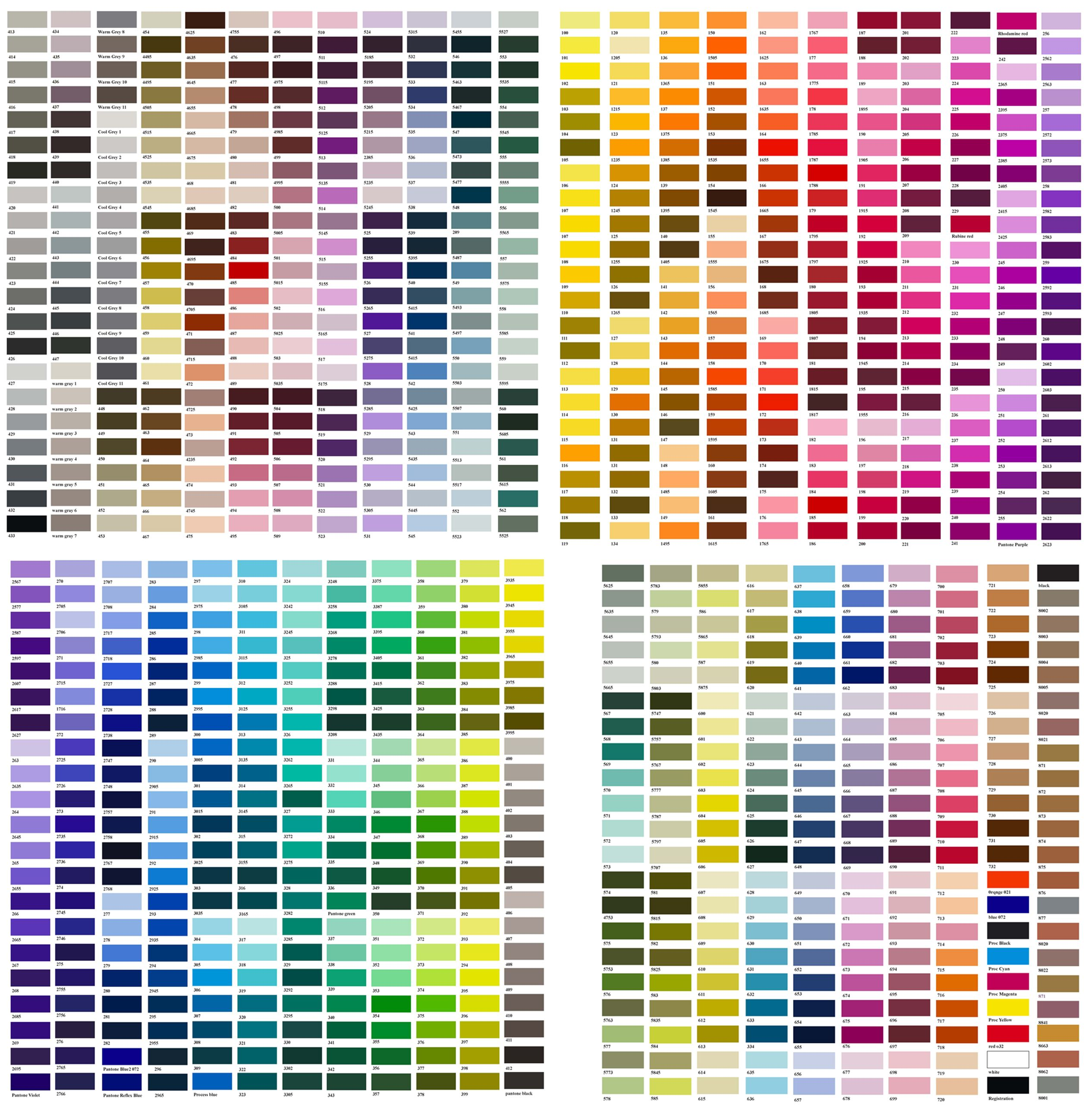 Folkart Color Chart  Google Search  Color Combinations