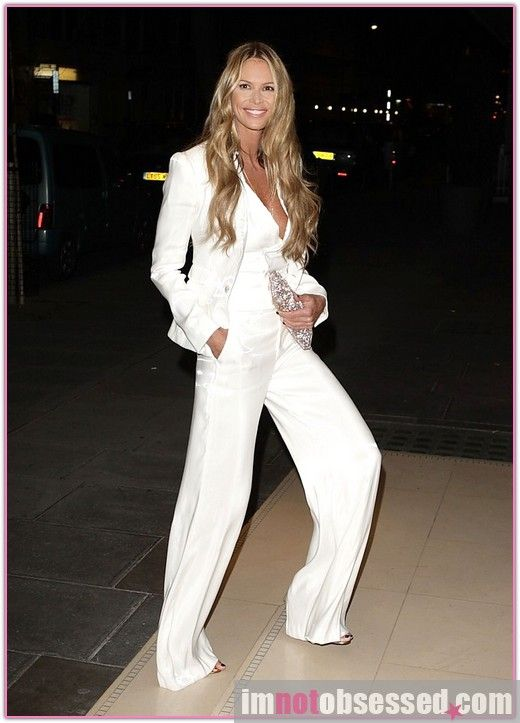 Elle Mc - white pant suit - change into the to walk into the ...