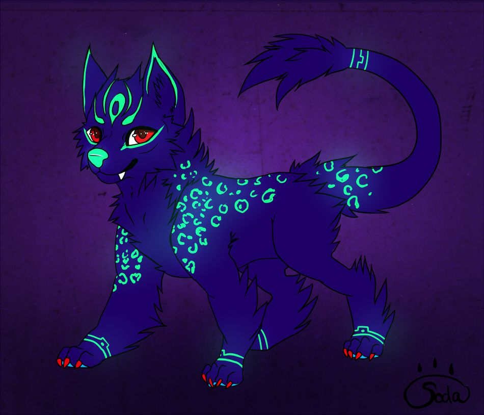 Neon glowing Character - auction! CLOSED by RainSoda.deviantart.com on @DeviantArt